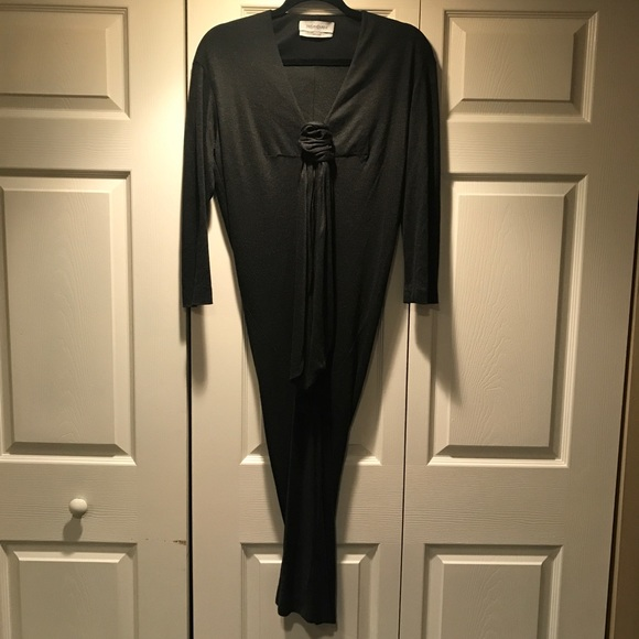 Yves Saint Laurent Dresses & Skirts - YVES SAINT LAURENT YSL Black front knotted dress